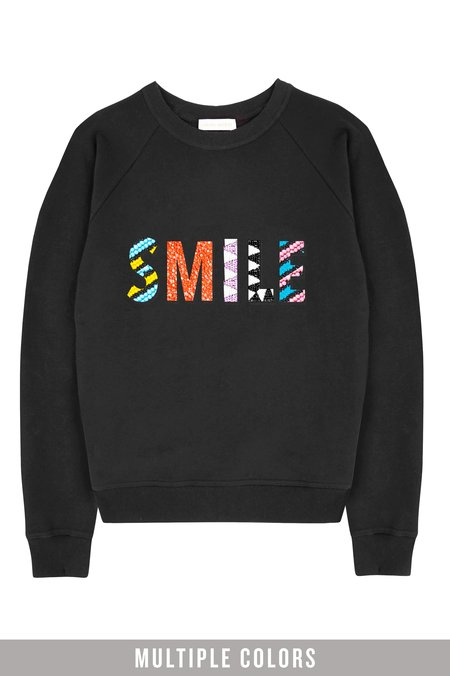 Uzma Bozai SMILE Beaded Sweatshirt - Black