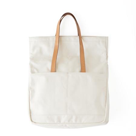 Makr Canvas and Leather Fold Weekender Bag - Natural