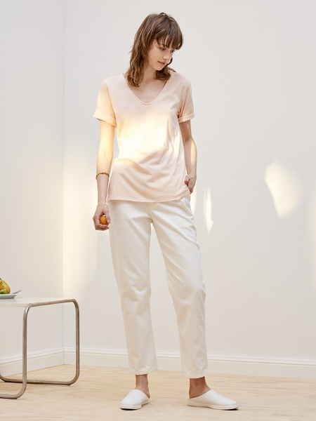 Kowtow Building Block V Tee in Light Pink