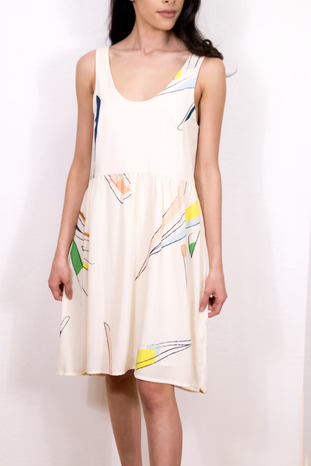 EVE GRAVEL amour imaginaire dress - Off White/meadow print
