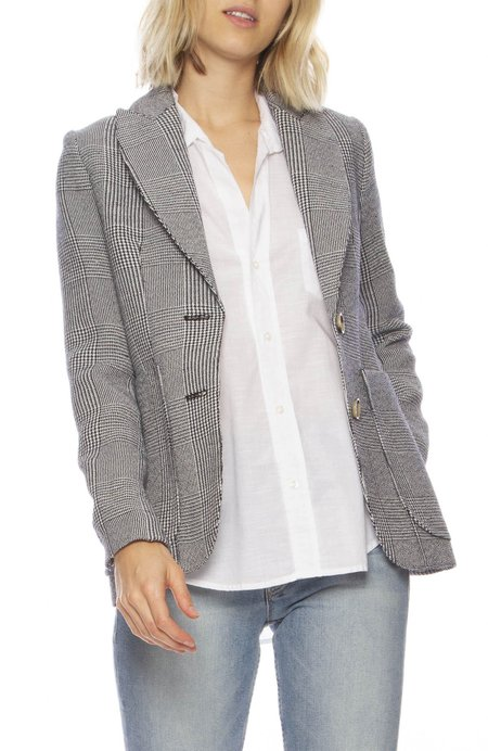 Smythe Portrait Neck Blazer - PLAID