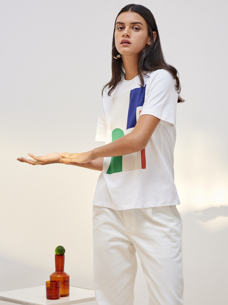 Kowtow Wall Tee in White