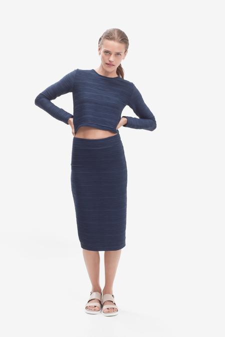 STORM & MARIE textured skirt - DARK BLUE