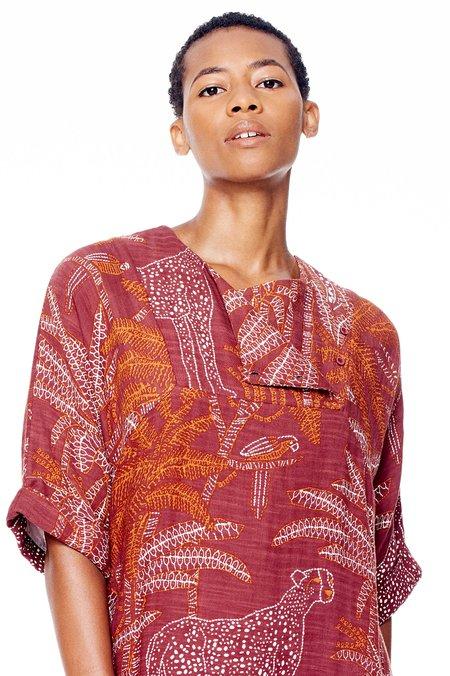 Antik Batik Jakaa Minidress - Burgundy