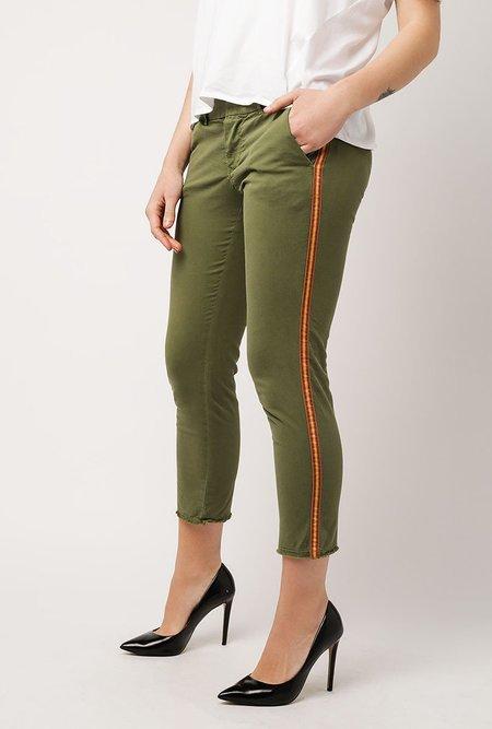Nili Lotan East Hampton Tape Pant - ARMY GREEN