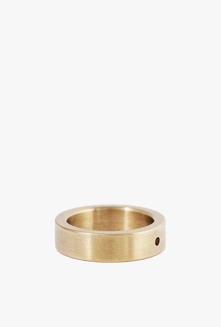 Marmol Radziner Heavyweight Solid Standard Ring - BRASS LIGHT