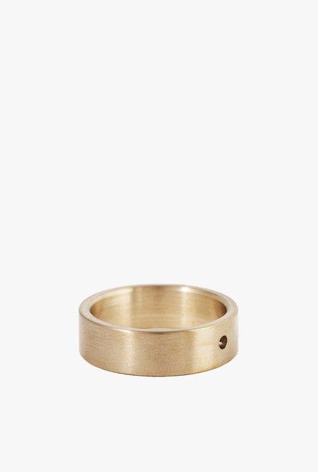 Marmol Radziner Lightweight Solid Stndard Ring - Brass Light