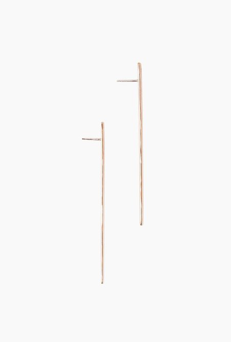 Circadian Studios Long Branch Earrings - 14k Rose Gold