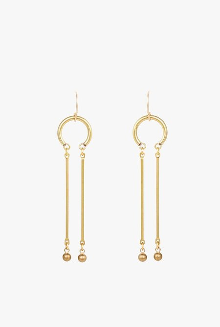 Ak Studio Magnet Earrings - BRASS