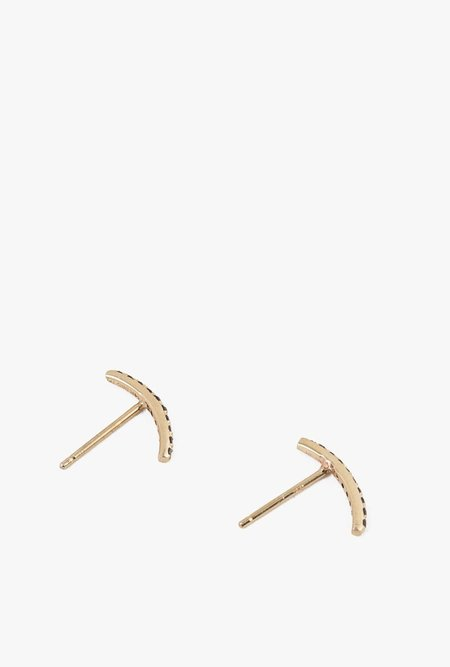 Gabriela Artigas Mini Axis Earrings - 14k Gold