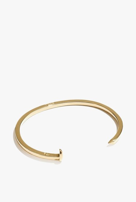 Giles & Brother Mini Railroad Spike Cuff - 14k Gold Plated
