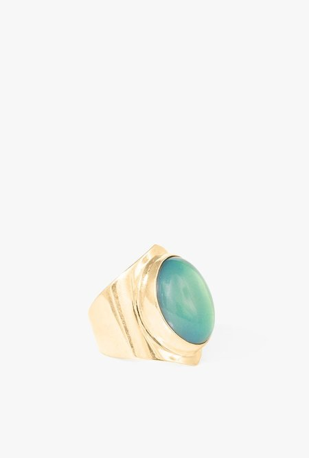 I Like It Here Club Mood Ring - BRASS