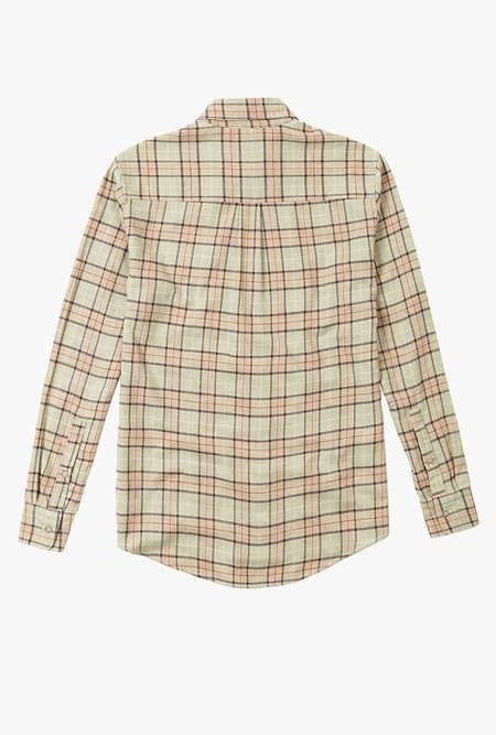 WELCOME STRANGER Nu Plaid LS Shirt - GREEN/PINK