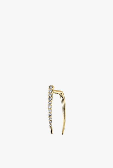 Gabriela Artigas Pave Infinite Single Tusk Earring - 14k Gold/White Diamond