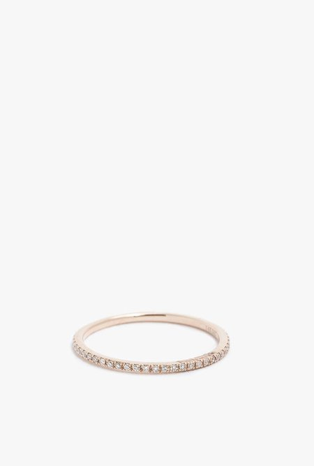 Gabriela Artigas 14K Rose Gold White Diamond Ring