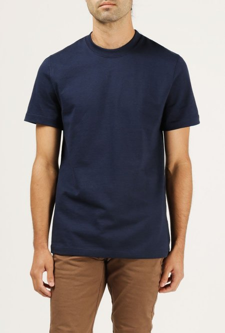 WELCOME STRANGER 8 oz Bison Tee - NAVY