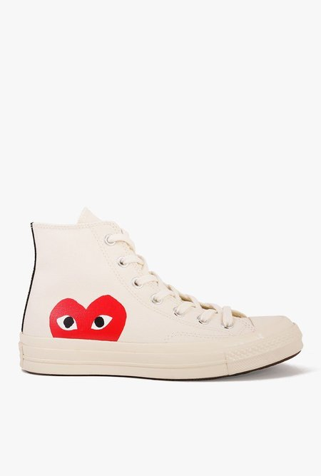 Comme des Garçons All Star '70 High Top Sneaker - White