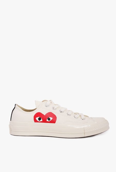Comme des Garçons All Star '70 Low Top Sneaker - White
