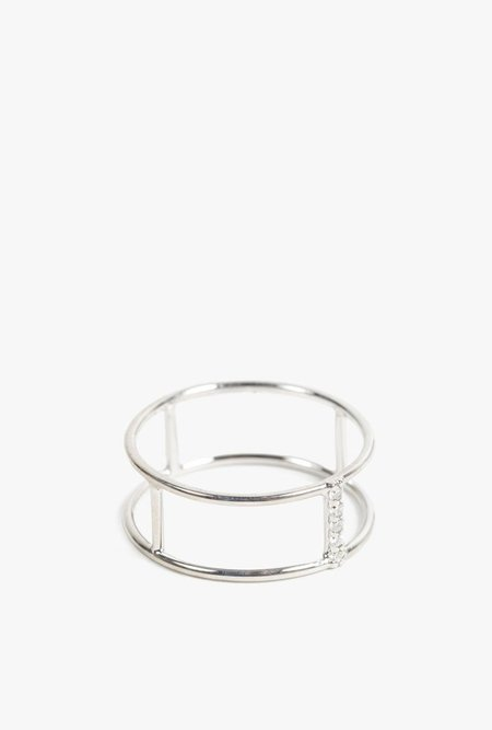 Vale Jewelry Short Corset Ring - 14k White Gold