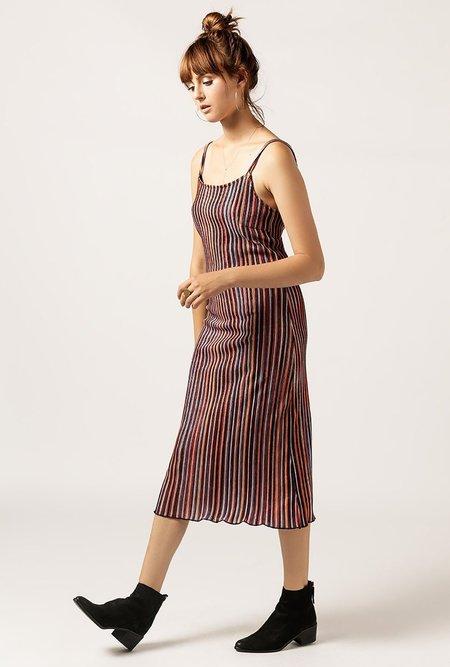 AGAIN Delilah Corduroy Dress - MULTI
