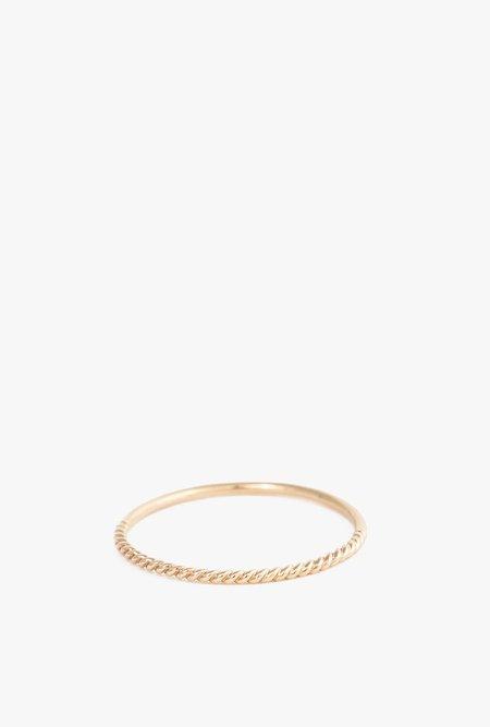 Minoux Twist Reversible Ring - 14k Gold