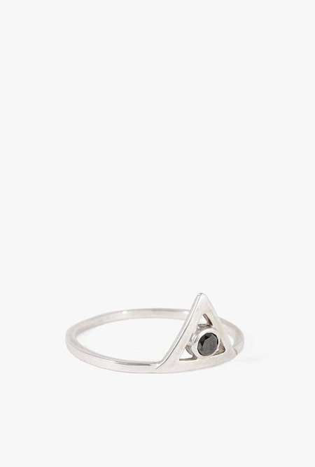 Ochre Objects Diamond Triangle Ring - STERLING SILVER
