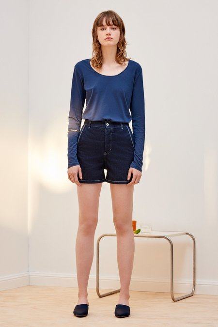 Kowtow Long Sleeve Top - navy blue