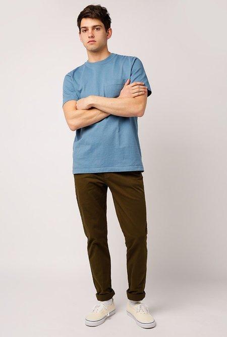 Welcome Stranger OD Bison Pocket T-Shirt - Blue Shadow