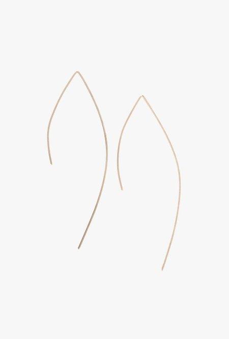 Circadian Studios Rose Gold Large Pull Thru Earrings