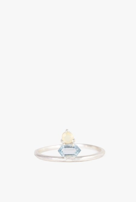 Tarin Thomas Shay Ring - Sterling Silver/Aquamarine