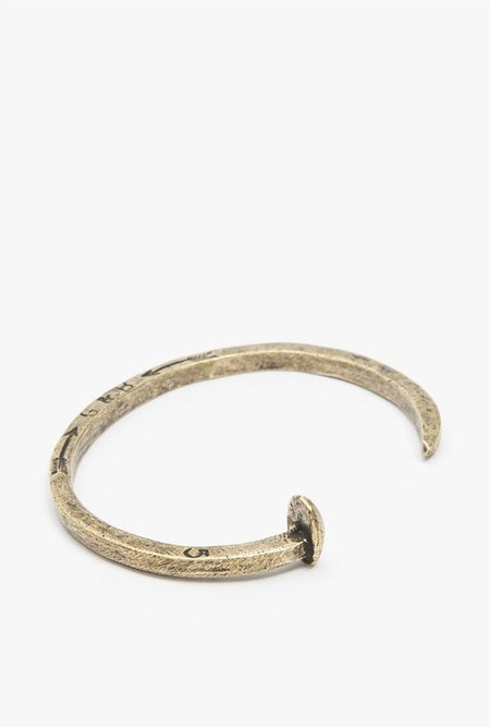 Giles & Brother Skinny Railroad Spike Cuff - BRASS