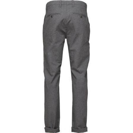 Knowledge Cotton Apparel Chuck The Brain Flannel Twill Chino - Dark Grey Melange