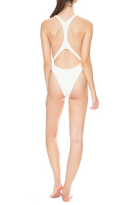 SOLID & STRIPED X RE/DONE The Venice One Piece - Ivory Rib