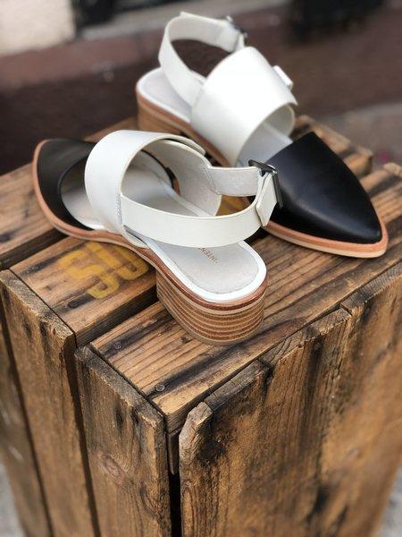 INTENTIONALLY __________. Intrinsic Sandal - BLACK/CREAM