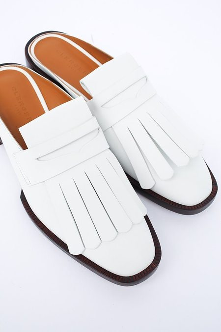 Robert Clergerie Yumip Leather Loafer Mule - White