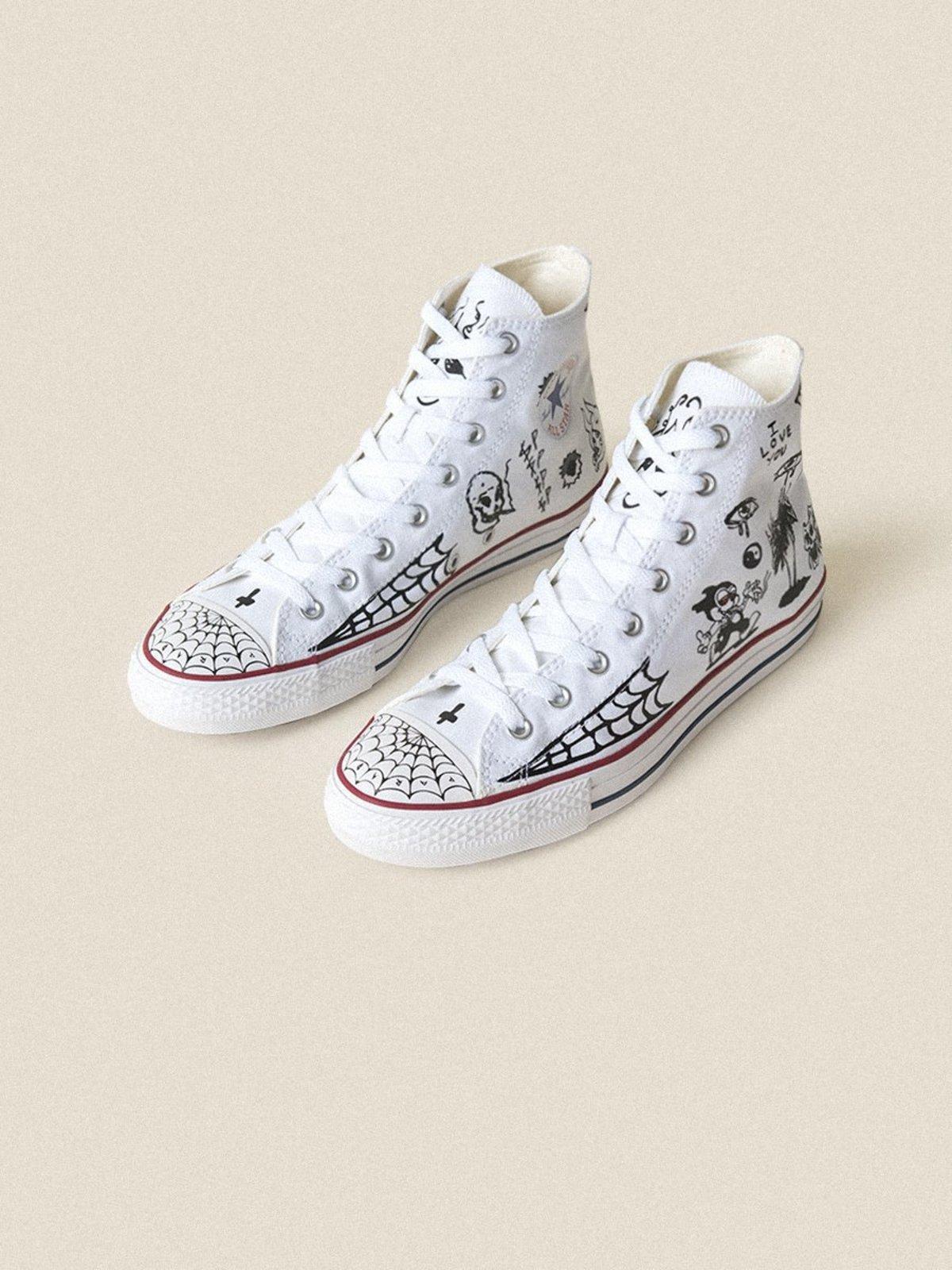 Converse Sean Pablo CTAS Pro Hi Sneakers - White Black White ... 277be193c