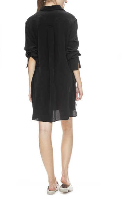 Margaux Lonnberg Soto Silk Shirt Dress - Black