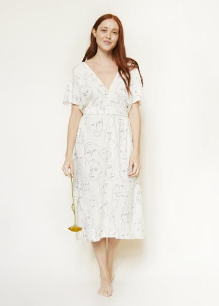 Corey Lynn Calter Julie Portrait Print Dress
