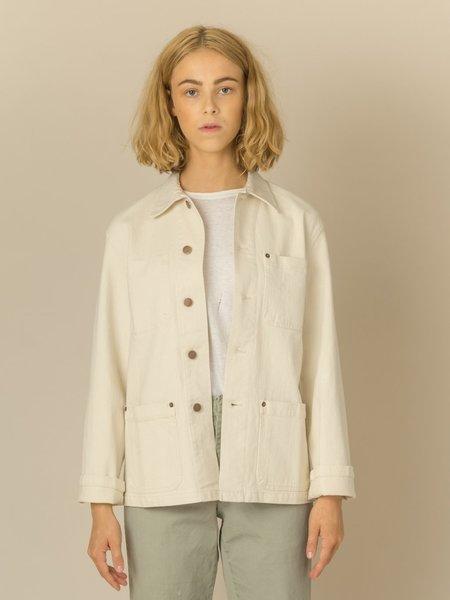 Caron Callahan Krasner Coat - Ivory Cotton Denim