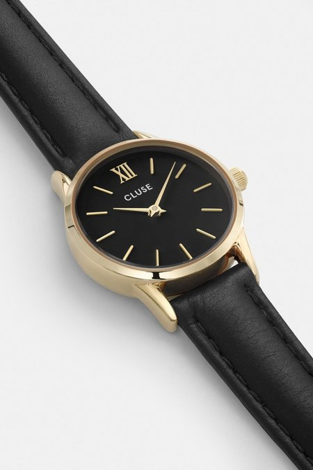 Cluse La Vedette Leather Watch - Black