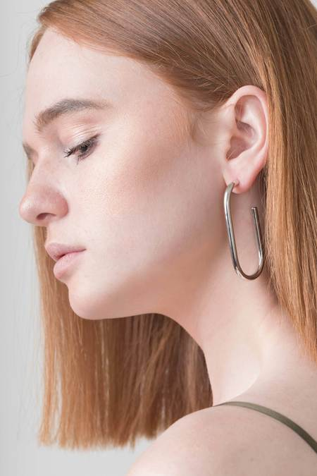 Machete Formal Maya Earrings - Silver