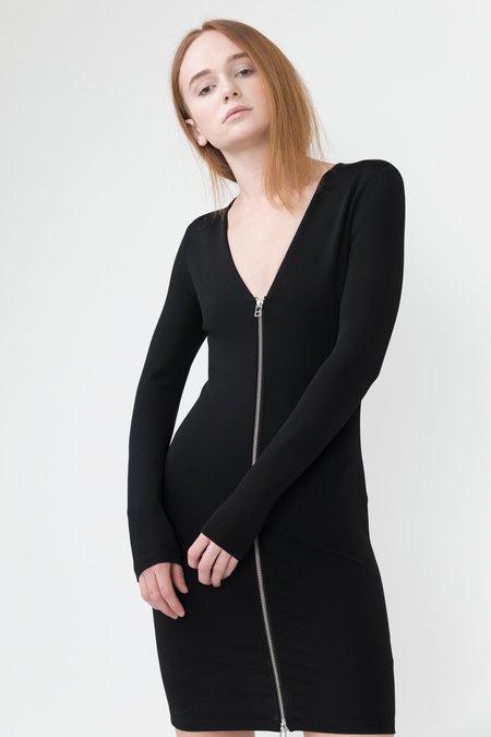 Alexander Wang Stretch Zip Dress - Black