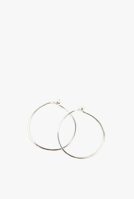 JACQUELINE ROSE Handmade Hoop Earrings - SILVER