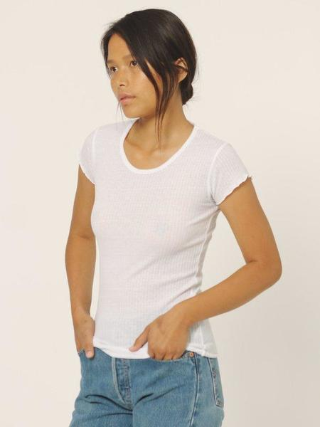 Calder Lauren Rib Top - White