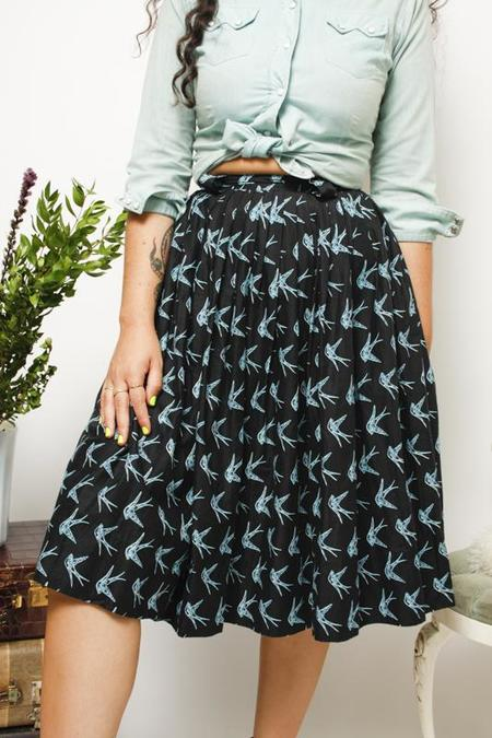 Cloak & Dagger Vintage Swallow Skirt