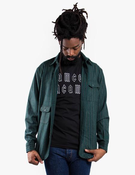 Han Kjøbenhavn Army Shirt - Green Stripe
