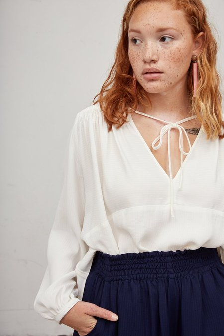 Rachel Comey Clean Willow Top - White Stripe