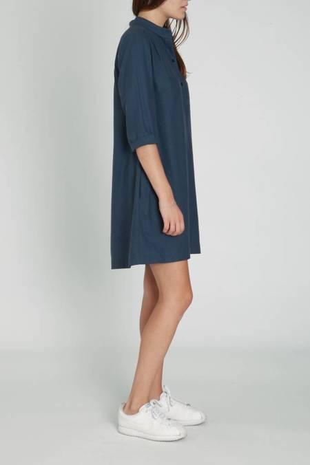 A.Cheng Safari Silk Noir Dress - Slate