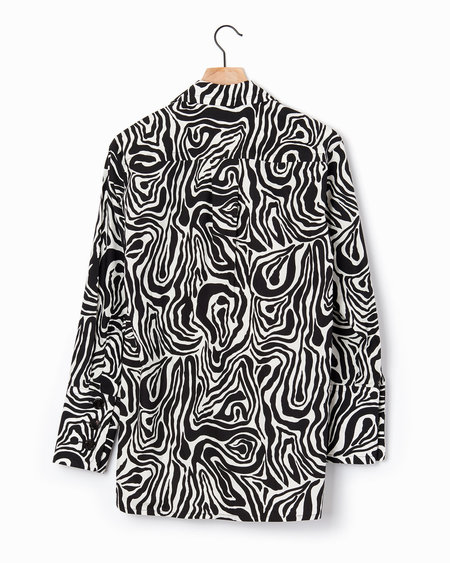 Marni Wood Print Shirt - Black/White