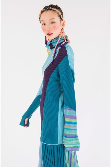 Tsumori Chisato Kasuri Sweater - Blue